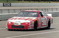 John Andretti driving the #98 Cale Yarborough Motorsports Ford in 1997