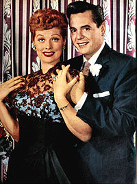Ball with husband Desi Arnaz in the 1950s