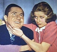 Lucille Ball with Joe Penner in Go Chase Yourself, a 1938 RKO film in which she played second lead to Penner