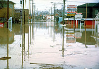 A flooded Superior Street in 1982