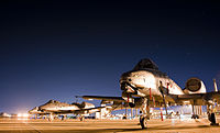 An A-10 Warthog after completing a training mission at the Fort Wayne Air National Guard Station