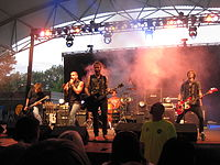 A concert during the 42nd Three Rivers Festival in 2010