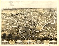 A lithograph of Fort Wayne (1868)