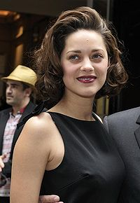 Cotillard at the Dior Haute Couture Autumn-Winter collection in Paris in July 2009