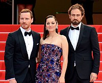 Michael Fassbender, Marion Cotillard and Justin Kurzel at the Cannes premiere of Macbeth in 2015