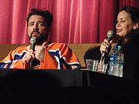 Kevin Smith and Jennifer Schwalbach Smith in September 2011
