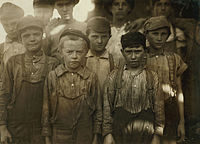 Child labor at Avondale Mills in Birmingham in 1910; photo by Lewis Hine