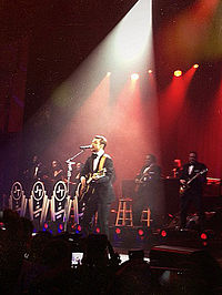 Timberlake performing the song at DirecTV Super Night in New Orleans on February 2, 2013.