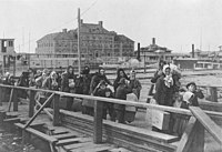 Ellis Island, in New York City, was a major gateway for European immigration.