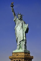For many immigrants, the Statue of Liberty was their first view of the United States. It signified new opportunities in life, and thus the statue is an iconic symbol of the American Dream as well as its ideals.