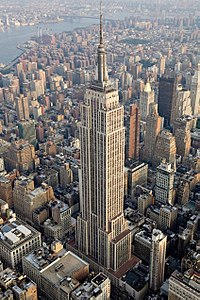 The Empire State Building was the tallest building in the world when completed in 1931, during the Great Depression.