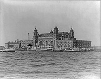 Ellis Island, in New York Harbor, was a major entry point for European immigration into the U.S.