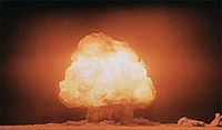 The Trinity test of the Manhattan Project was the first detonation of a nuclear weapon.