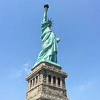 The Statue of Liberty in New York City, dedicated in 1886, is a symbol of the United States as well as its ideals of freedom, democracy, and justice.
