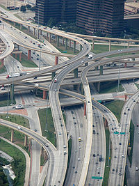 The Central Expressway and I-635 interchange, commonly known as the High Five Interchange