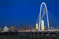 Named after a Dallas philanthropist, the Margaret Hunt Hill Bridge spans the Trinity River
