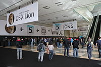 Mac OS X Lion was announced at WWDC 2011 at Moscone West