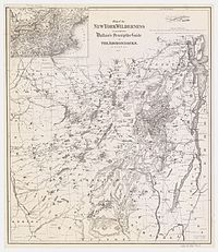 1876 map of the Adirondacks, showing many of the now obsolete names for many of the peaks, lakes, and communities