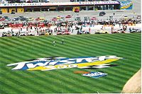 2002 infield during the pre-race for the Tropicana 400.