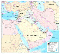 A map of the Middle East (2003)
