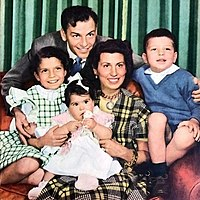 Sinatra family portrait, 1949, with Nancy at far left