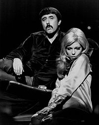 Nancy Sinatra and singer-songwriter Lee Hazlewood on The Hollywood Palace in 1968