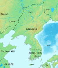 Goguryeo at its height, in 476 CE