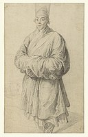 Man in Korean Costume, c. 1617 painting by Rubens - one of the first representations of Korean culture to a Western audience (in the J. Paul Getty Museum).