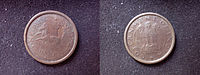 Indian one pice, minted in 1950