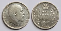 1 Indian rupee (1905) featuring Edward VII.