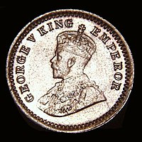Regal issue minted during the reign of King/Emperor George V.