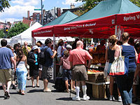 Dupont Circle Farmers Market occurs year-round on Sunday mornings