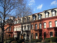 Homes located on the 2000 block of N Street, NW, are considered some of the city's finest examples of Second Empire architecture.
