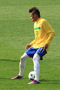 Neymar, playing for Brazil in 2011, has been compared to compatriots Pelé and Ronaldinho