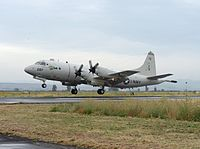 A U.S. Navy P-3C Orion takes off from Naval Air Station Sigonella in Sicily on 19 May to search for Flight 804
