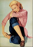 Kelly featured in a spread for Modern Screen magazine in 1954