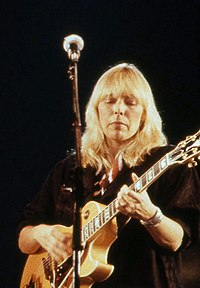 Mitchell performing in 1983
