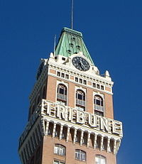 In 1924, the Tribune Tower was completed; in 1976, it was restored and declared an Oakland landmark. It is no longer used by the Oakland Tribune.
