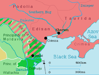 Territorial changes of Moldavia following the Treaty of Bucharest 1812.
