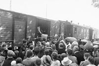 Bessarabia Germans resettling after the Soviet occupation of Bessarabia in 1940.