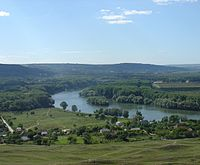 Scenery in Moldova, with Dniester River