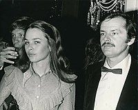 Nicholson with Michelle Phillips at the 1971 Golden Globes