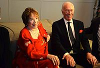 MacLaine with Christopher Plummer at the premiere of the film Elsa & Fred in 2014