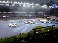 Pre-match display at the 2017 UEFA Champions League Final between Real Madrid and Juventus