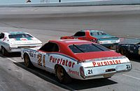 Pearson's No. 21 Mercury owned by the Wood Brothers