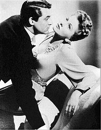 Cary Grant and Joan Fontaine in a publicity shot for Suspicion (1941)