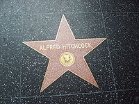 One of Hitchcock's stars on the Hollywood Walk of Fame