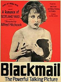 Advertisement for Blackmail (1929)