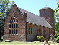 St. Luke's Church, built during the 17th century near Smithfield, Virginia - the oldest Anglican church-building to have survived largely intact in North America.