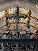 Rood screen and chancel ceiling at the Anglo-Catholic Church of the Good Shepherd (Rosemont, Pennsylvania)